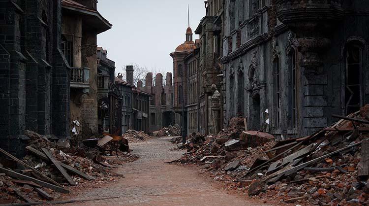 Разваливающийся город