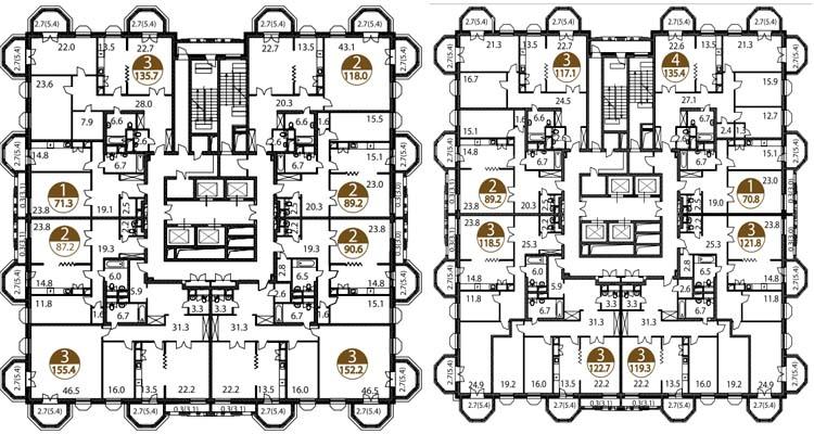 Планировки в ЖК Академ Палас