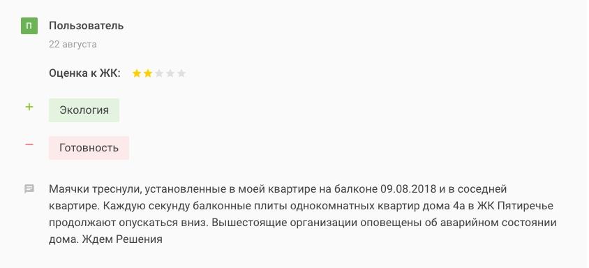 ЖК Пятиречье отзыв