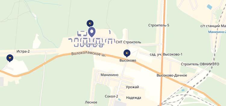 ЖК Малая Истра на карте