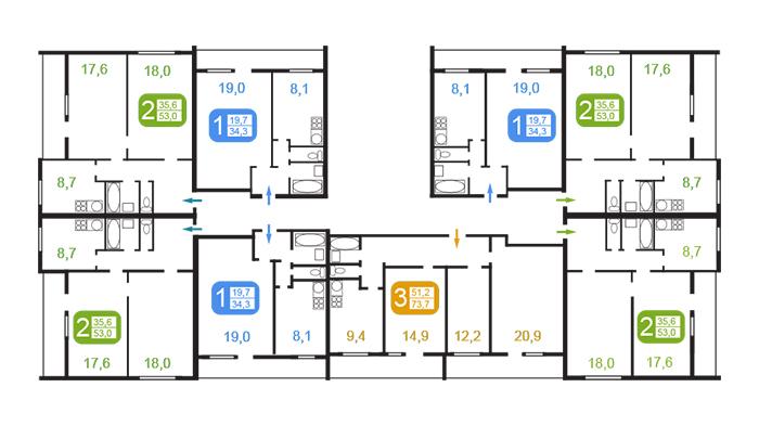 Башня Вулыха: планировки квартир