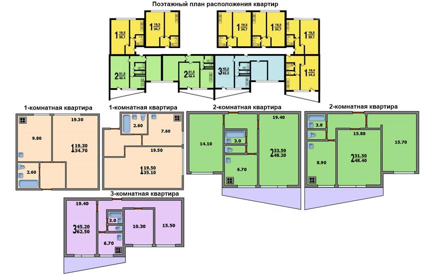 Планировка квартиры в доме серии II-68-02