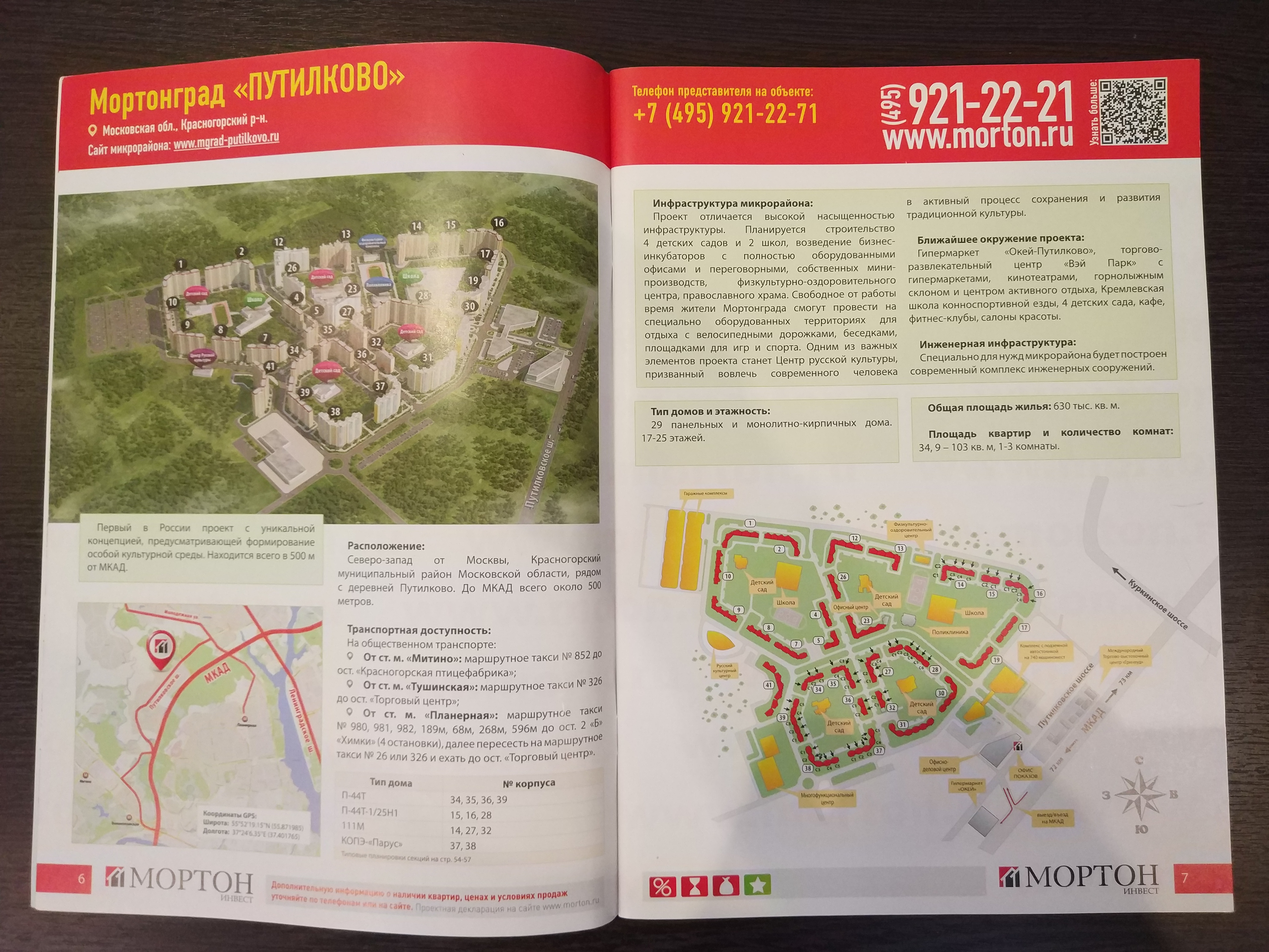 Мортонград Путилково: генплан от Мортона (в журнале)