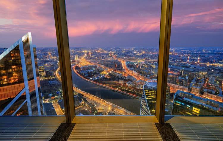 Вид на Москву с балкона