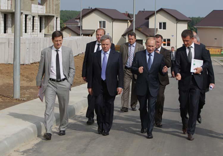 Путин и Тимохин (MR Group) в Новом Ступино