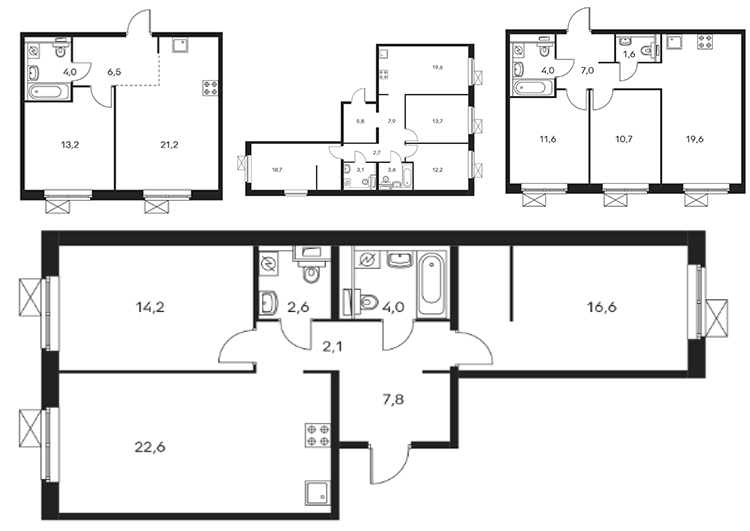 планировки квартир гк пик