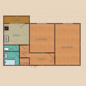 Планировка квартиры в доме серии КОПЭ