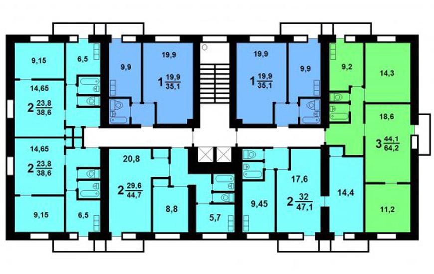 Дома серии II-18 (планировка)