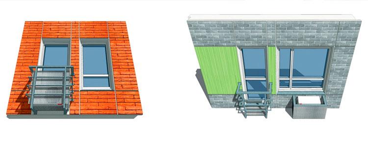 Дома серии ДОММОС - французские балконы, места под кондиционеры