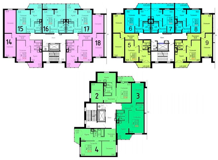 Дома серии ДОММОС - планировка квартир
