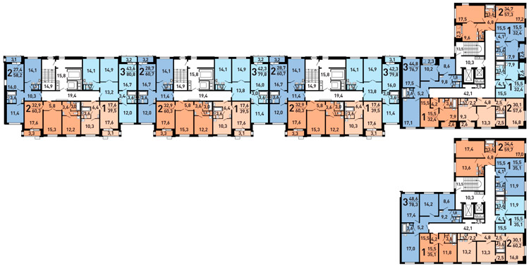 Дома серии ДомНад (планировки квартир)